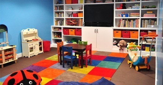 Basement finished playroom