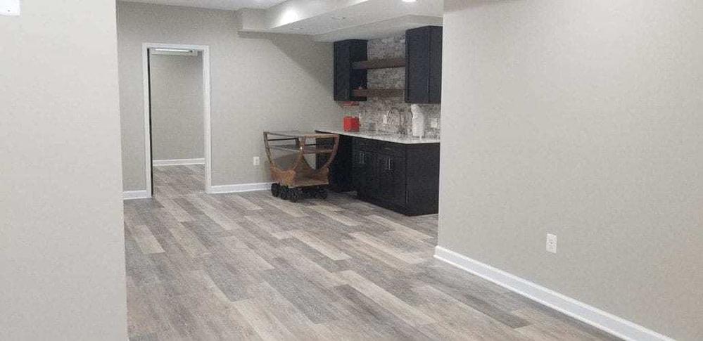 Wet Bar and LVT Flooring